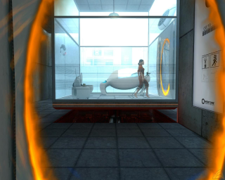 Portal - looking at yourself, sideways