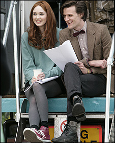 Karen Gillan and Matt Smith start filming Doctor Who