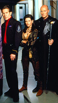 Crusade: Captain Matthew Gideon, Dureena Nafeel and Galen