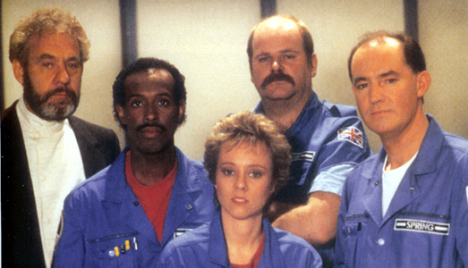 Star Cops Cast (looking less than interested!)